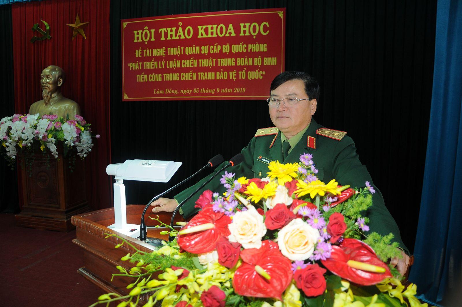 Học viện Lục quân tổ chức Hội thảo Khoa học Đề tài Nghệ thuật quân sự cấp Bộ quốc phòng